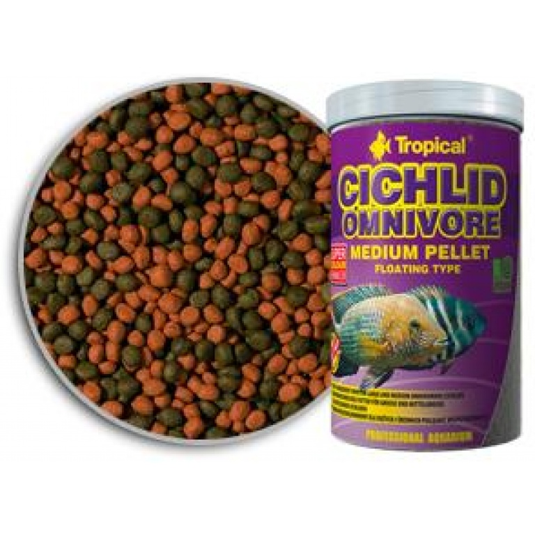 Cichlid Omnivore Medium Pellet Tropical Hrana za Ribice
