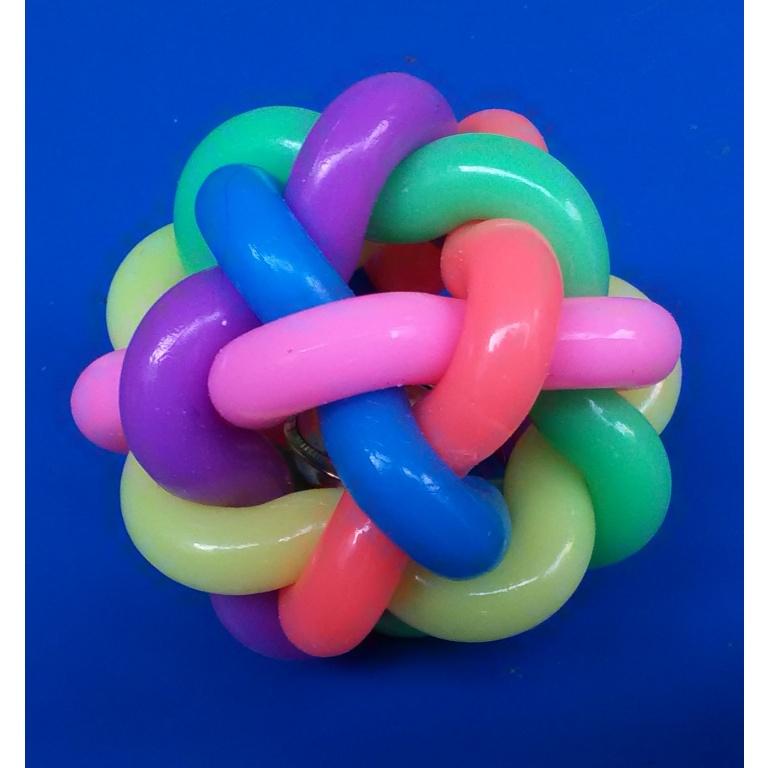 Igračka lopta čvor šarena 7cm