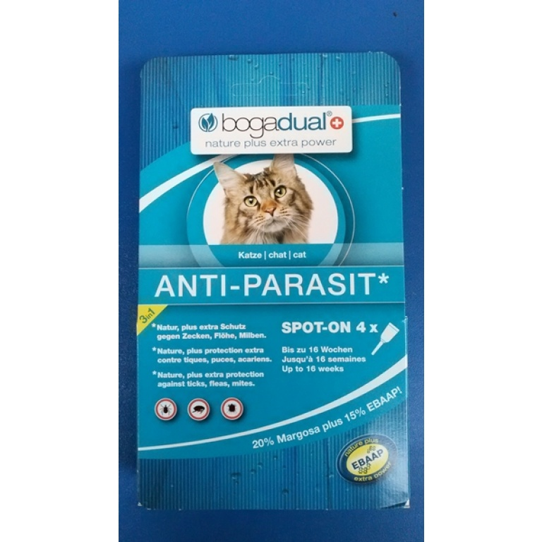 BOGACARE Antiparazitske Pipete za Mačke-0.75ml