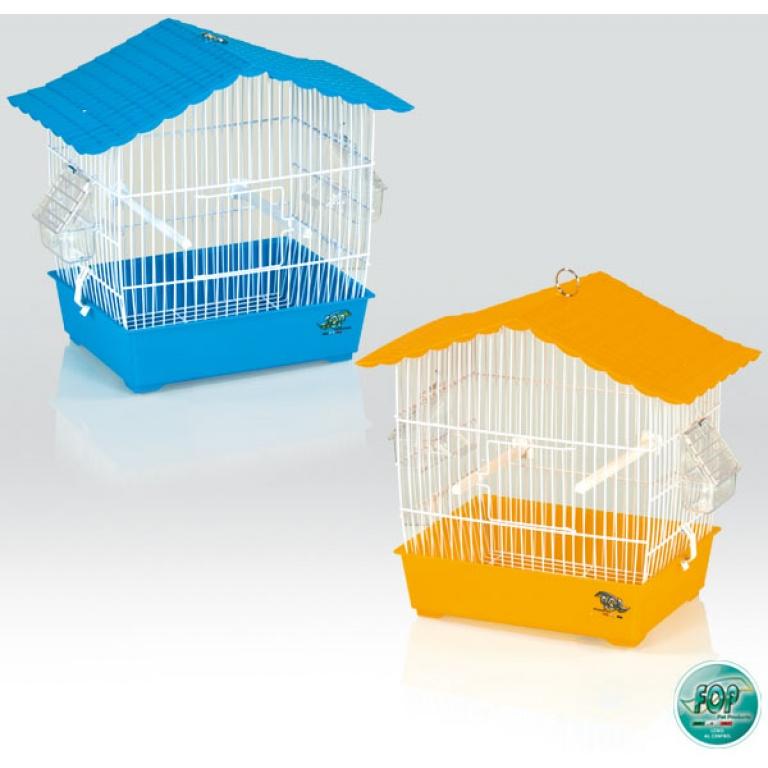 FOP Kavez za ptice Sara Beli sa dnom raznih boja 35,5x21x32,5cm