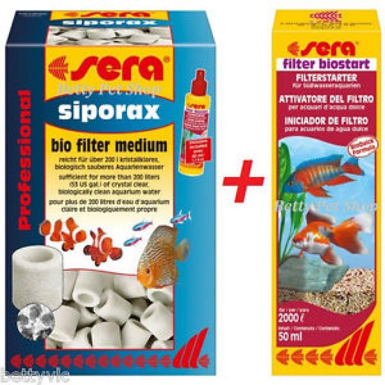 Sera siporex 1000ml+Filter Biostart 50ml gratis