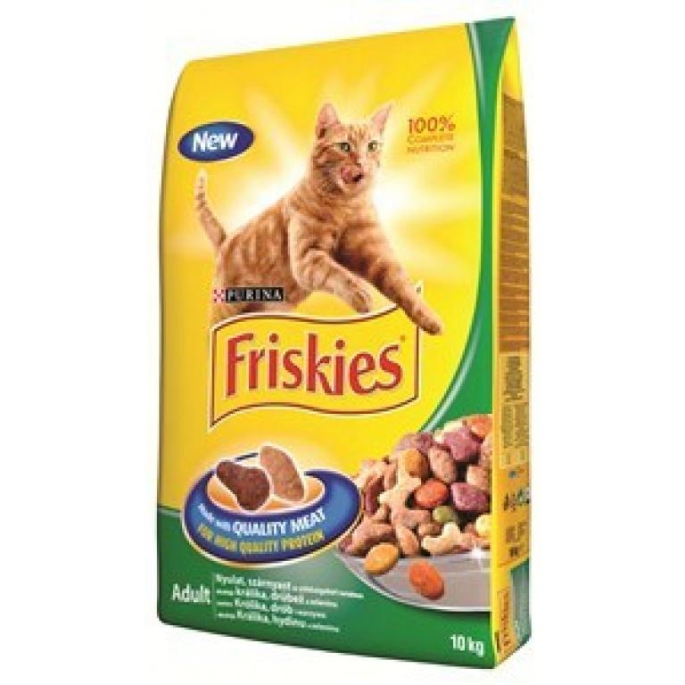 FRISKIES Briketi za mačke Adult s zečetinom, piletinom i povrćem Potpuna hrana za odrasle mačke
