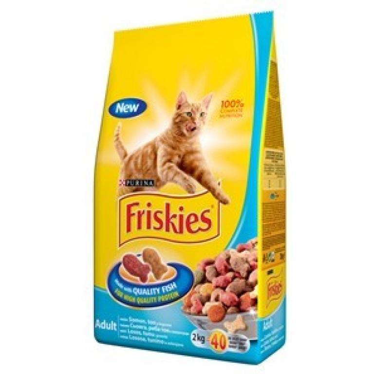 FRISKIES Briketi za mačke Adult Losos i Povrće 1kg