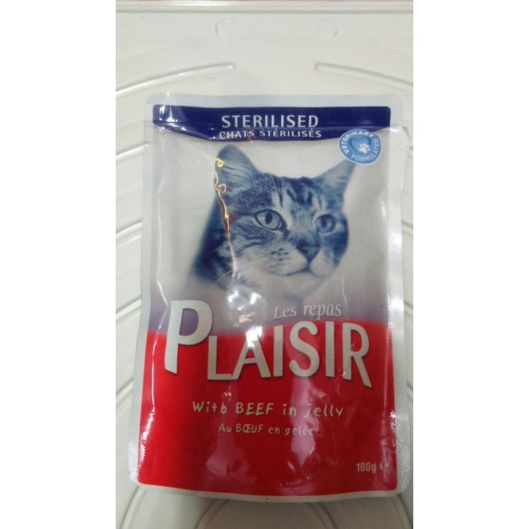 Plaisir sos sterilisane mačke govedina 100 gr