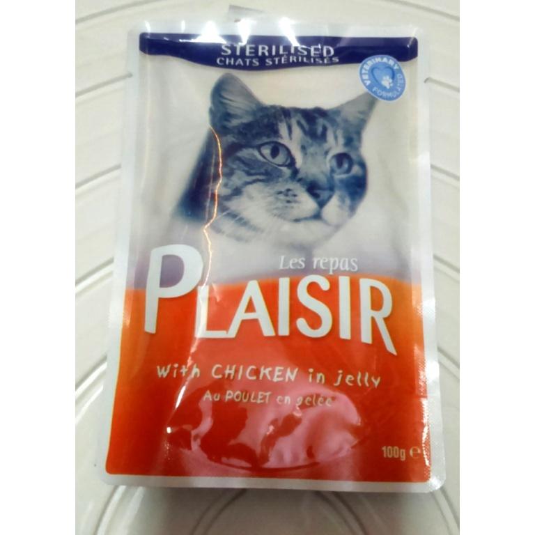 Plaisir sos sterilisane mačke piletina 100 gr