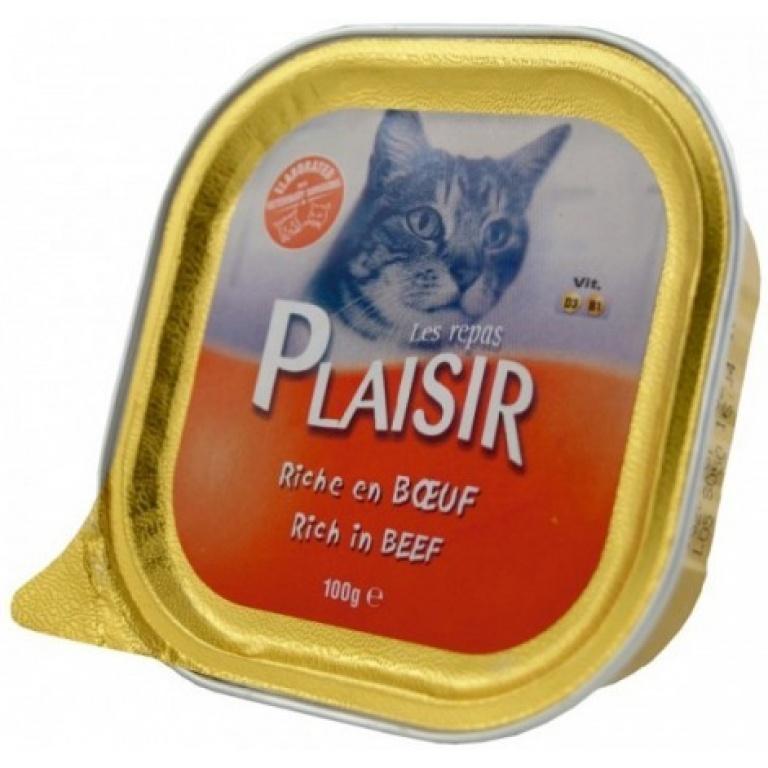 Plaisir pašteta za mace-govedina 100 gr