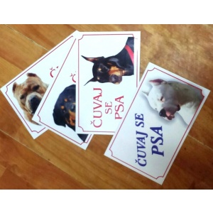 Tabla Čuvaj se psa