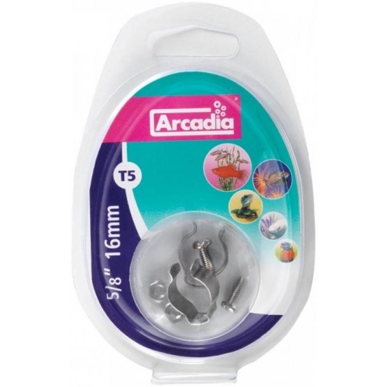 Arcadia Stainless steel clip pack T5-Nosači neonki
