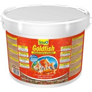 Tetra Goldfish 10L-Lisnata hrana za sve zlatne i druge hladnovodne ribice.