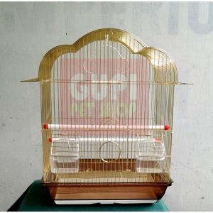 Kavez za papagaje sa zlatnom žicom