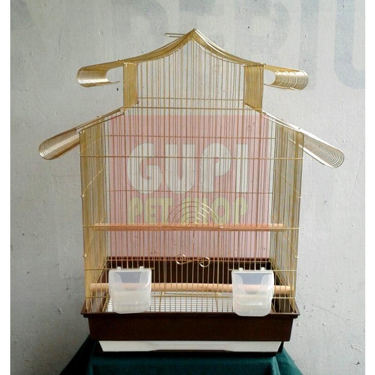 Kavez sa zlatnom žicom za papagaje