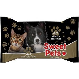 Sweet Pets univerzalne vlazne maramice, 40 kom