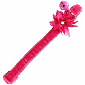 Ogrlica za macke Flower - pink 20-30cm
