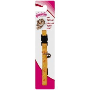 Ogrlica za macke Heart- yellow 20-30cm
