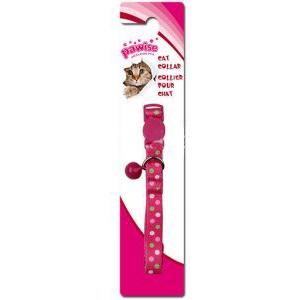 Oglica za macke Polka Dots- pink 20-30cm