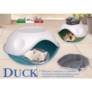 Georplast duck-krevet za mačke neprovidni sa jastukom 57*48*h32 cm