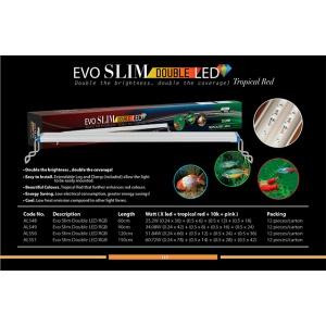 AquaZonic Evo Slim Led/ doubleTropical Red 90cm